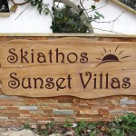 Sunset Villas - Sign on marble